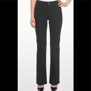 NYDJ Sarah Classic Bootcut Black Jeans Size 8
